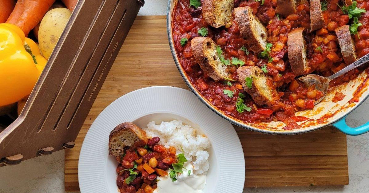 Festivon chili sin carne on vegaaninen versio tutustu mausteisesta chili con carnesta.